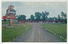 Flamingo Motel Cornwall Ontario Canada postcard
