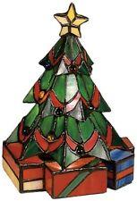 Meyda Tiffany Christmas Tree Green Flame Tiffany Accent Lamp w/ 1 Light 15W NEW