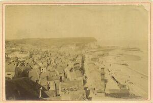 🌓 Tirage albuminé Saint Valéry en Caux Normandie plage falaises juillet 1894