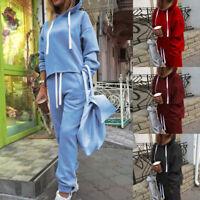 1Set Damen Trainingsanzug Kapuze Pullover Hosen Fitness Jogginganzug Sportanzug