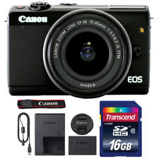 Canon EOS M100 Mirrorless Digital Camera with 15-45mm Lens and 16GB Memory Card
