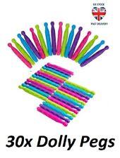 30x plastica resistente Dolly Peg Vestiti Linea Di Lavaggio asciugatura Clip STENDINO BUCATO
