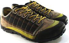 TSUBO Men Athletic Shoes Size 11.5 Euro 44.5 Black Brown Khaki Yellow Mesh Lined