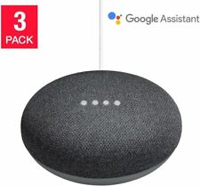 Google Home Mini Smart Speaker Powered by Google Assistant Charcoal 3-pack New