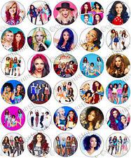30 X Little Mix Partido Colección Comestibles De Arroz Oblea papel Cupcake Toppers