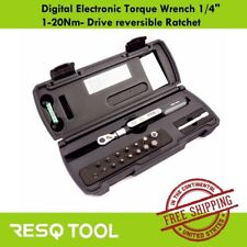 "RESQ Tool Digital Electronic Torque Wrench 1/4"" 1-20Nm- Drive reversible Ratchet"