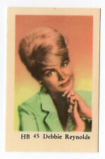 1960s Swedish Film Star Card HB #45 American Actress Singer Debbie Reynolds