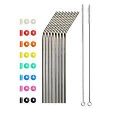 10.5×´ Long Metal Straws Drinking reusable steel stainless yeti tumbler 30 Oz(8)