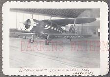 Vintage Photo Beech Staggerwing Airplane Laredo Texas 755968