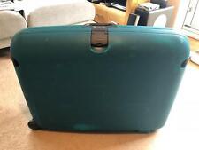 Vintage Carlton Hardcase Suitcase - Large - Wheeled - Lockable - Green/Turquoise