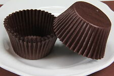 100x, 2.25'' Paper Cupcake Muffin Liners, Baking Cups, Brown, Jumbo