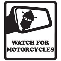 WATCH FOR MOTORCYCLES YAMAHA HONDA HARLEY MOTORCYCLE VINYL DECAL STICKER (WM-01)