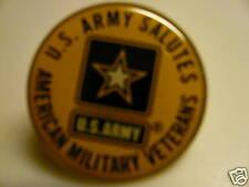 Original U.S.Army Salutes American Military VeteransPin