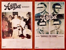 ANARBOR Burnout Ltd Ed 2 New RARE Posters Lot +FREE 3rd Punk Rock Emo Poster!