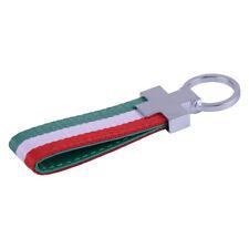 Italy Key Strap Keychain PU Leather Keyring Italian Flag