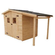 Casetta da giardino con legnaia 3,36 x 1,60 x 2,10  m