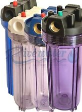 Contenitore standard 10'' -IN-OUT 3/4'' trasparente -Pulsante rilascio pressione