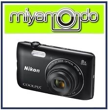 Nikon CoolPix A300 Digital Camera (Black) + 8GB + Case (M'sia)