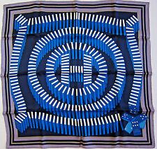 NWOT Auth Hermes Vintage Silk Scarf  70 cm 'L' Effet Domino' 100% Silk