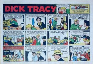 Dick Tracy by Chester Gould - large half-page color Sunday comic - Dec. 14, 1958