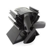 Heat Powered Mini Stove Fan for Wood Log Burner Firepalce Eco Friendly Black NEW