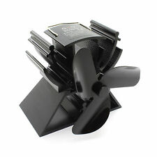 Heat Powered Stove Fan for Wood / Log Burner - Eco Friendly (Black)