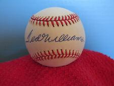 TED WILLIAMS   Autographed/Signed American League Baseball  PSA COA