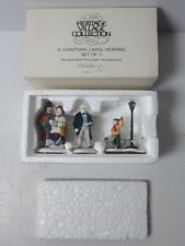 "Dept 56 Heritage Village Collection ""A Christmas Carol Morning"" Set Of 3 #55883"