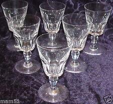 Baccarat 6 verres à vin en cristal taillé modèle Missouri Hauteur 12cm