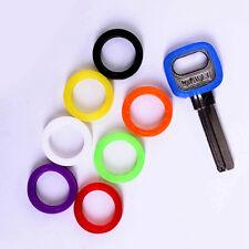8PCS  Rubber Mic Color Soft Key Locks Key Cap Key Covers Hollow Topper Keyring