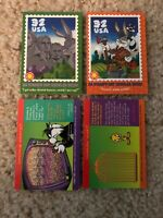 1997/98 USPS STAMP RARE 4 TRADING CARD LOT. LOONEY TUNES BUGS BUNNY