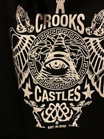 Men's Crooks & Castles Hoodie Extra Large pullover AUTHENTIC NWT