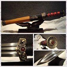 "High Quality Chinese Longquan Sword ""Han Jian"" Patter Steel Razor Sharp Blade"
