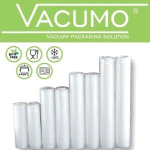 8 Rollen Set Vakuumfolie Rolle Vakuumbeutel Vakuumierer + 100 Etiketten GRATIS