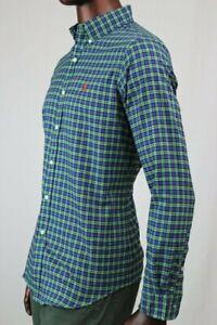 Ralph Lauren Long Sleeve Buttondown Dress Shirt Green/Navy Plaid ~NWT~