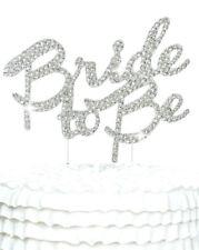 Bride To Be Crystal Diamante Cake Topper Decoration for Anniversary / Wedding /