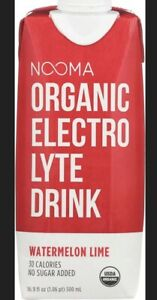 NOOMA-ORGANIC ELECTROLYTE WATER, WATERMELON LIME, Pack of 12 ( 16.9 FZ )