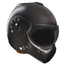 Roof Boxer V8 Negro Mate Motocicleta Casco Panel Frontal