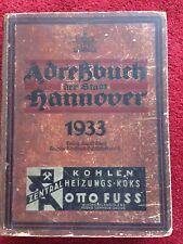 Adressbuch Hannover 1933 Guter Zustand