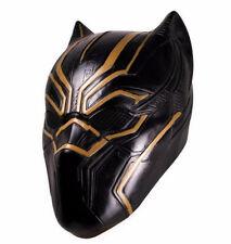 Adult Black Panther Mask Latex Erik Killmonger Battle Halloween Superhero Mask