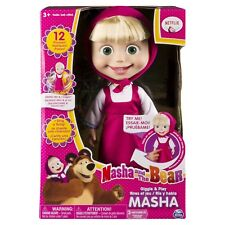 Masha And The Bear Cute Doll English Speaking Signing Child Toy Interactive 12""