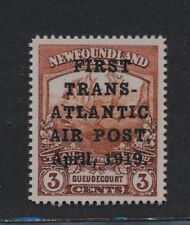 ***REPLICA*** of 1919 NewFoundland 3c Red Brown, Hawker Air Post, Sc C1, SG 142