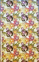 """Vintage Tropical Large Floral Print Woven Home Decor Fabric 2 yards X 45"""" W"""