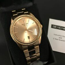 Sekonda ladies Rose Gold  diamante set watch  RRP £69.95