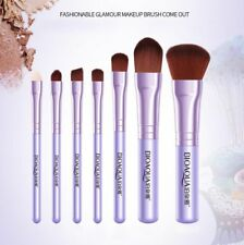 Purple Professional 7 Pieces Kabuki MakeUp Brush Set and Cosmetic Brushes Case