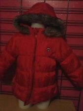 SUPERBE  MANTEAU FILLE  coul rouge T 2 ANS COMME NEUF