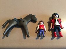 3pcs Playmobil Geobra Pirate, Squire & Gray Horse Action Figure Toys Collectible