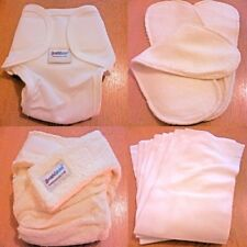 Bambinex Reusable Washable Bamboo Nappy, Wrap, Booster Pad and Liners (size 2)