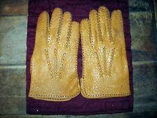 Pair Of Vintage, 1970'S Mens Size 8 1/2 Gates Light Brown Calf Skin Dress Gloves