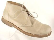 Roots Canada Chukka Desert Boots Latex Crepe Soles Beige/Tan Leather Men's Sz 8D
